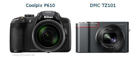 Nikon coolpix p610 vs Panasonic dmc tz 101