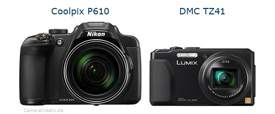 Nikon coolpix p610 vs Panasonic dmc tz 41