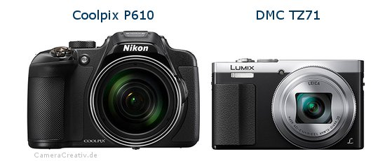Nikon coolpix p610 vs Panasonic dmc tz 71