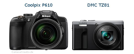 Nikon coolpix p610 vs Panasonic dmc tz 81