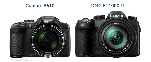 Nikon coolpix p610 vs Panasonic lumix fz1000 ii