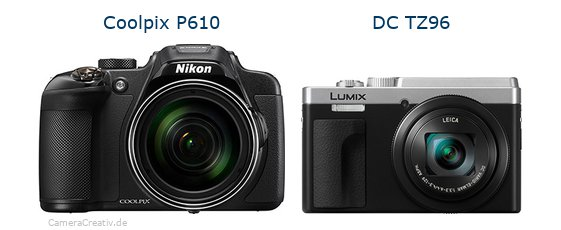 Nikon coolpix p610 vs Panasonic lumix tz 96