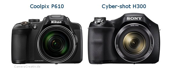 Nikon coolpix p610 vs Sony cyber shot h300
