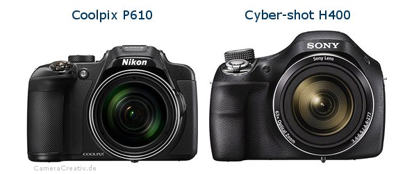 Nikon coolpix p610 vs Sony cyber shot h400