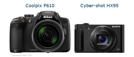 Nikon coolpix p610 vs Sony cyber shot hx 95