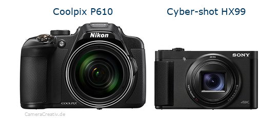 Nikon coolpix p610 vs Sony cyber shot hx 99