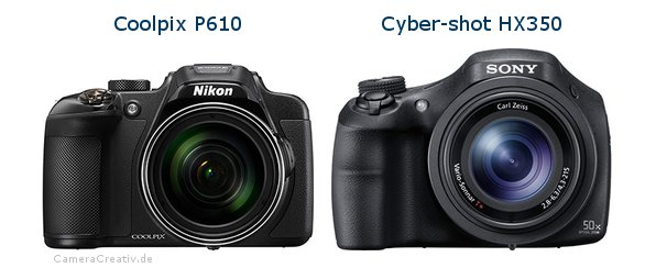 Nikon coolpix p610 vs Sony cyber shot hx350