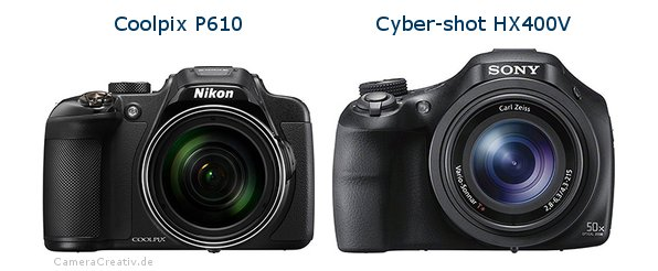 Nikon coolpix p610 vs Sony cyber shot hx400v