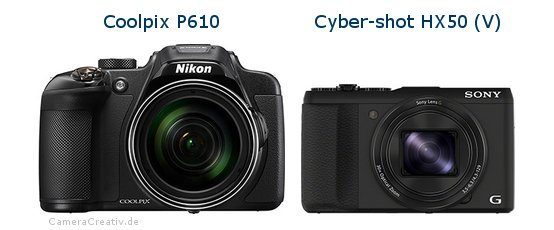 Nikon coolpix p610 vs Sony cyber shot hx50