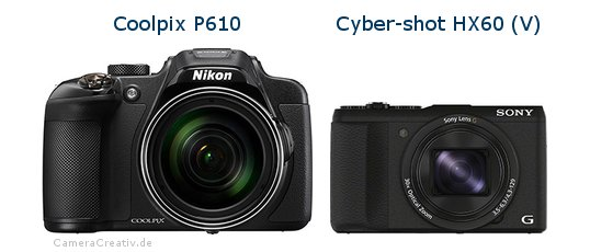 Nikon coolpix p610 vs Sony cyber shot hx60