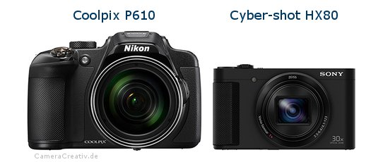 Nikon coolpix p610 vs Sony cyber shot hx80