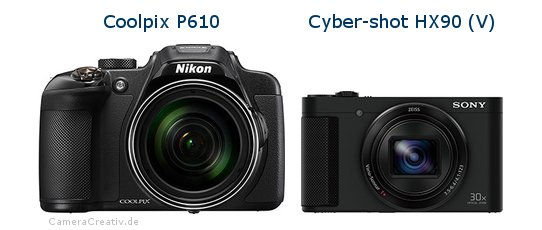 Nikon coolpix p610 vs Sony cyber shot hx90