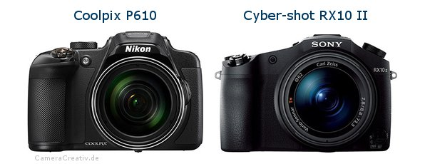 Nikon coolpix p610 vs Sony cyber shot rx10 ii