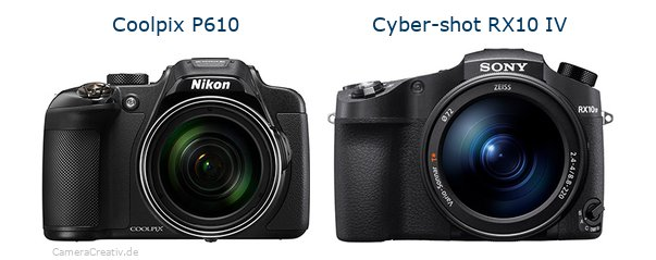 Nikon coolpix p610 vs Sony cyber shot rx10 iv