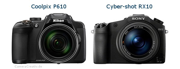 Nikon coolpix p610 vs Sony cyber shot rx10