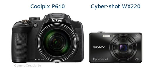 Nikon coolpix p610 vs Sony cyber shot wx220