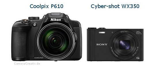 Nikon coolpix p610 vs Sony cyber shot wx350