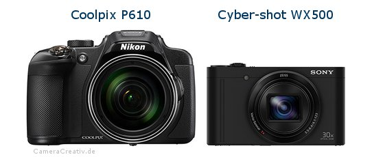 Nikon coolpix p610 vs Sony cyber shot wx500