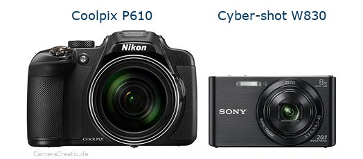 Nikon coolpix p610 vs Sony w830