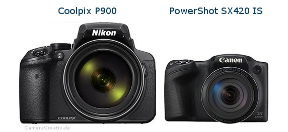 Nikon coolpix p900 vs Canon powershot sx420 is