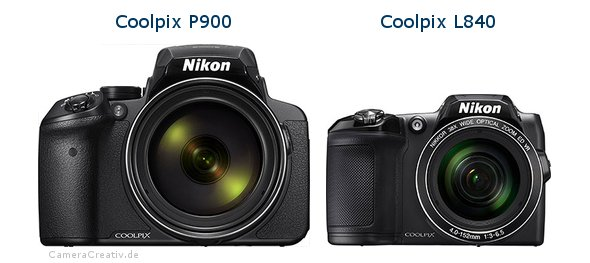 Nikon coolpix p900 vs Nikon coolpix l840