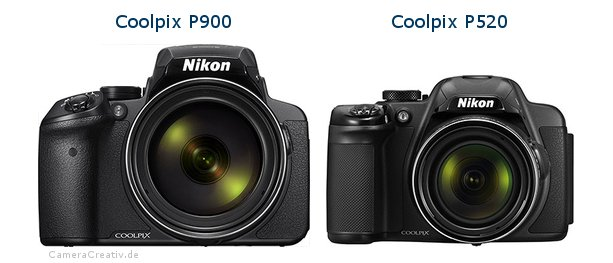 Nikon coolpix p900 vs Nikon coolpix p520