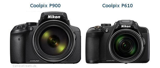 Nikon coolpix p900 vs Nikon coolpix p610