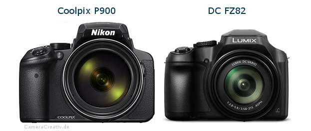 Nikon coolpix p900 vs Panasonic dc fz 82
