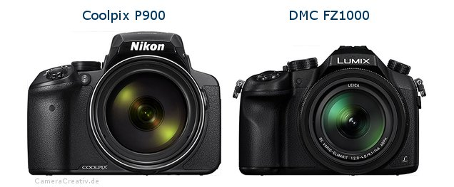 Nikon coolpix p900 vs Panasonic dmc fz 1000