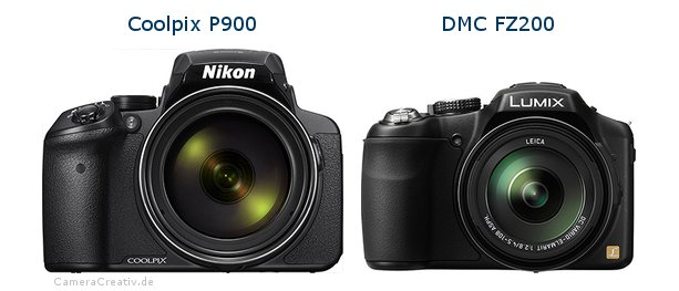 Nikon coolpix p900 vs Panasonic dmc fz 200