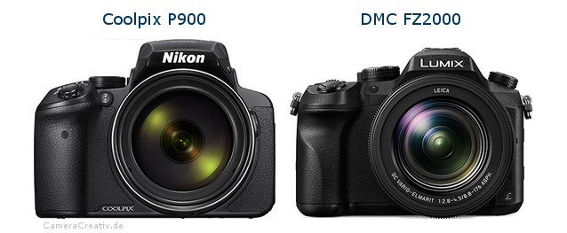 Nikon coolpix p900 vs Panasonic dmc fz 2000