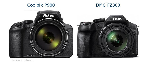 Nikon coolpix p900 vs Panasonic dmc fz 300