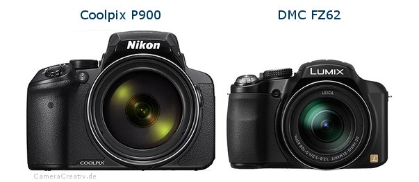 Nikon coolpix p900 vs Panasonic dmc fz 62