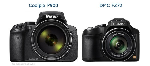 Nikon coolpix p900 vs Panasonic dmc fz 72