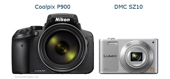 Nikon coolpix p900 vs Panasonic dmc sz 10