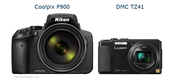 Nikon coolpix p900 vs Panasonic dmc tz 41