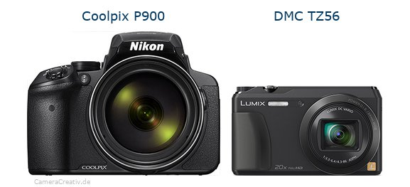 Nikon coolpix p900 vs Panasonic dmc tz 56