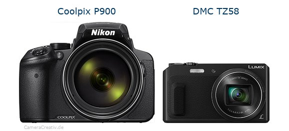 Nikon coolpix p900 vs Panasonic dmc tz 58