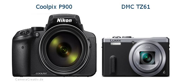 Nikon coolpix p900 vs Panasonic dmc tz 61