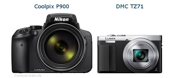 Nikon coolpix p900 vs Panasonic dmc tz 71