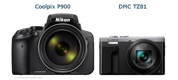 Nikon coolpix p900 vs Panasonic dmc tz 81