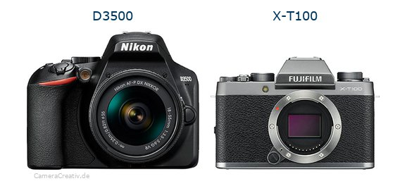 D3500 vs X-T100 - Side by side