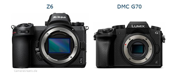 Nikon z6 vs Panasonic dmc g 70