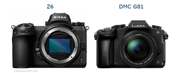 Nikon z6 vs Panasonic dmc g 81