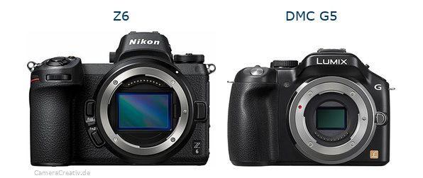 Nikon z6 vs Panasonic dmc g5