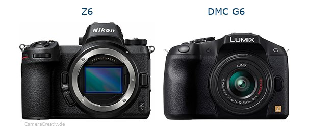 Nikon z6 vs Panasonic dmc g6
