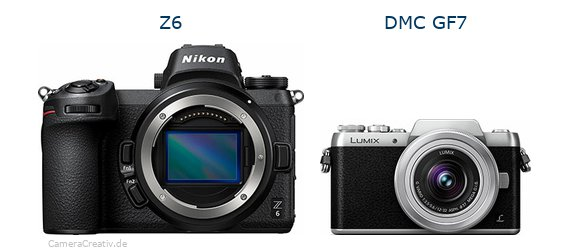 Nikon z6 vs Panasonic dmc gf 7