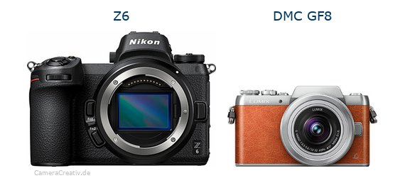 Nikon z6 vs Panasonic dmc gf 8