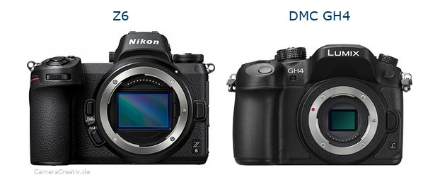 Nikon z6 vs Panasonic dmc gh 4