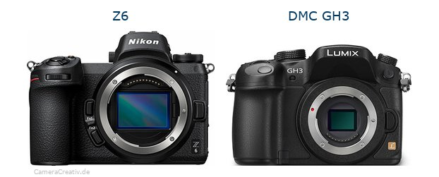 Nikon z6 vs Panasonic dmc gh3